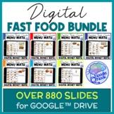 DIGITAL Fast Food Menu Math BUNDLE - A Fun and Functional