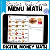 DIGITAL Fast Food Menu Math at Wendy's - A FUN Money Math Center