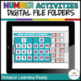 DIGITAL File Folders: Basic Number Skills for Distance Learning