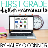 DIGITAL First Grade Assessments {Google Slides™ and Micros