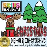 DIGITAL First Grade SKILL REVIEW Christmas Theme