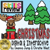 DIGITAL First Grade SKILL REVIEW Christmas Theme