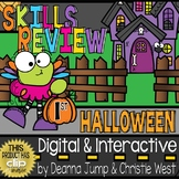 DIGITAL First Grade SKILL REVIEW Halloween Theme