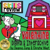 DIGITAL First Grade SKILL REVIEW Valentines Theme
