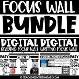 DIGITAL Writing and Reading Focus Walls   Google Classroom Activities & MORE