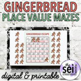 DIGITAL GINGERBREAD MAN WINTER HOLIDAY MATH ACTIVITIES - PLACE VALUE