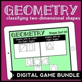 DIGITAL Geometry Game Bundle: Classifying 2-Dimensional Shapes for Google Drive