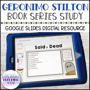DIGITAL Geronimo Stilton Book Series Study - Google Slides & Powerpoint Versions