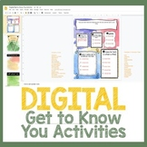 DIGITAL Get to Know You Activities for Distance Learning
