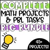 PRINTABLE & DIGITAL Math Activities & PBL Projects - Mega Bundle!