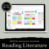 DIGITAL Google Drive Interactive Notebook: Reading Literat