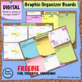 DIGITAL Graphic Organizer Boards on Google Slides FREEBIE