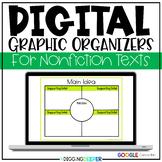 Editable DIGITAL & Paper/Pencil Graphic Organizers for Nonfiction Texts