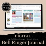 DIGITAL Growth Mindset Bell Ringer Journal for School Year: DISTANCE LEARNING