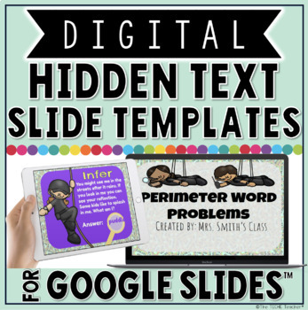 digital hidden text slide templates in google slides by the techie