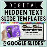 DIGITAL HIDDEN TEXT SLIDE TEMPLATES IN GOOGLE SLIDES™