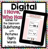 DIGITAL I Have Who Has Classroom Game: Subitizing