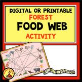 DIGITAL or PRINTABLE INTERACTIVE BUILD A FOOD WEB ACTIVITY