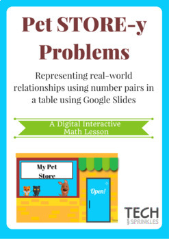 DIGITAL INTERACTIVE Math Pet Store-Y Problems Lesson w/ Google Slides TEKS 3.5E