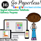 DIGITAL INTERACTIVE NOTEBOOK AUTHOR'S PURPOSE ACTIVITIES