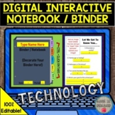 DIGITAL INTERACTIVE NOTEBOOK OR BINDER FOR ALL SUBJECTS DI
