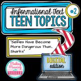 DIGITAL Informational Text - Teen Topics #2, Engaging Nonfiction