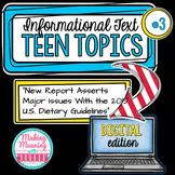 DIGITAL Informational Text - Teen Topics #3, Engaging Nonfiction