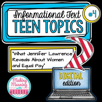 DIGITAL Informational Text - Teen Topics #4, Engaging Nonfiction
