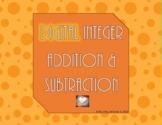 DIGITAL Integer Addition & Subtraction - Number Lines & Ca