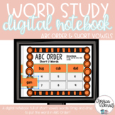 DIGITAL Interactive Notebook: ABC Order {SHORT VOWELS} Dis