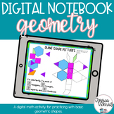 DIGITAL Math Interactive Notebook Geometry for Distance Learning