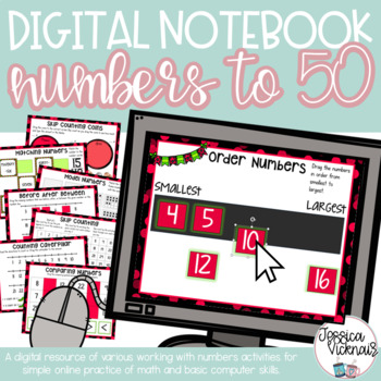 DIGITAL Interactive Notebook: Numbers to 50 {Ordering, Comparing, Modeling}