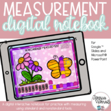 DIGITAL Math Interactive Notebook Measurement for Distance
