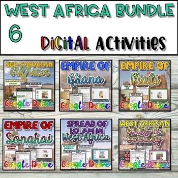 West Africa DIGITAL Interactive Notebook {Google Drive}