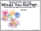 """DIGITAL JANUARY THEMED """"Would You Rather..."""" JOURNAL IN GOOGLE SLIDES™"""