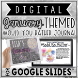 "DIGITAL JANUARY THEMED ""Would You Rather..."" JOURNAL IN GOOGLE SLIDES™"