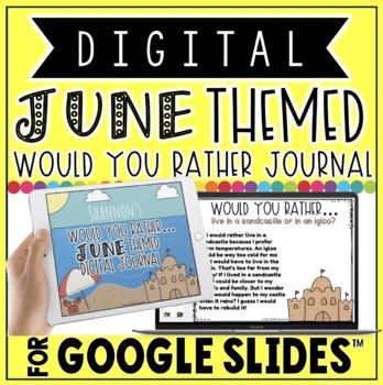 "DIGITAL JUNE THEMED ""Would You Rather..."" JOURNAL IN GOOGLE SLIDES™"