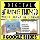 """DIGITAL JUNE THEMED """"Would You Rather..."""" JOURNAL IN GOOGL"""