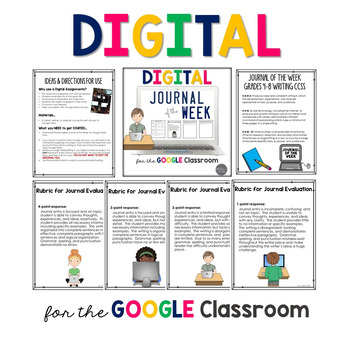 DIGITAL Journal of the Week for Grades 4-8 Common Core Aligned