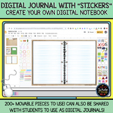 DIGITAL Journal with Movable Pieces / Stickers: Create You