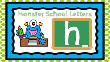 DIGITAL KINDERGARTEN ELA CENTER- Monster School Letters