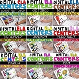 DIGITAL KINDERGARTEN ELA CENTER BUNDLE FOR THE ENTIRE YEAR