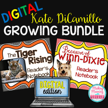 Kate DiCamillo Growing Bundle - PAPERLESS - 4rd-8th grade