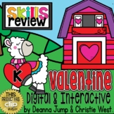 DIGITAL Kindergarten SKILL REVIEW VALENTINE Theme