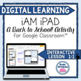 """DIGITAL LEARNING: All About Me """"iAm iPad"""" Back to School Activity"""