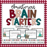 DIGITAL LEARNING Christmas Brain Starters Question Pack 3