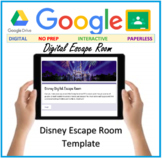 DIGITAL LEARNING - Disney Escape Room Template - Google forms DISTANCE