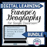 DIGITAL LEARNING: Europe's Geography BUNDLE