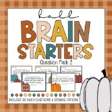 DIGITAL LEARNING- Fall Brain Starters - Question Pack 2