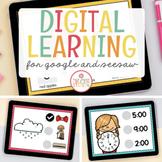 DIGITAL LEARNING GOOGLE SLIDES AND SEESAW BUNDLE - DISTANCE LEARNING